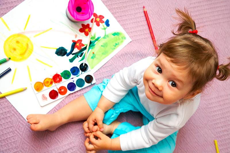 Рисуем красками