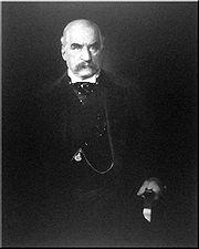 Финансировавший исследования Теслы промышленник Джон Пирпонт Морган, 1903 г.