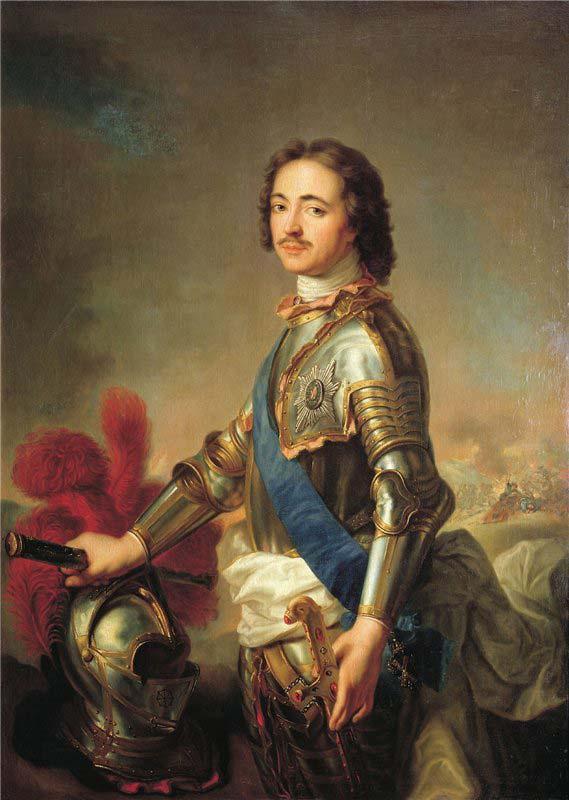 Император Пётр 1. Худ.Жак-Марк Натье. 1717 г.